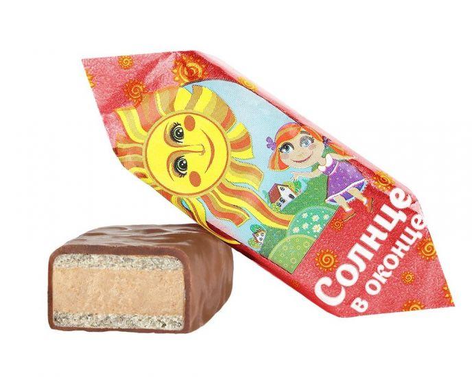 """Конфеты шоколадные в глазури """"Солнце в оконце"""" арахисовые"""
