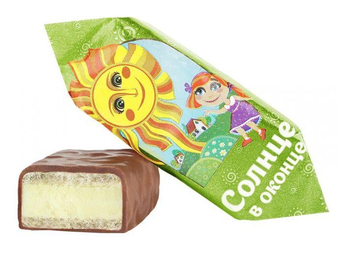 """Конфеты шоколадные в глазури """"Солнце в оконце"""" лимонные"""