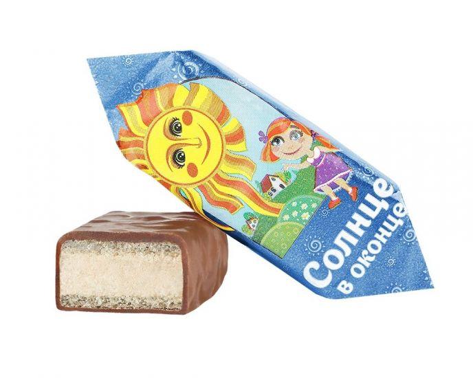 """Конфеты шоколадные в глазури """"Солнце в оконце"""" сливочные"""